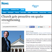 NZ Catholic Church gets proactive on quake strengthening
