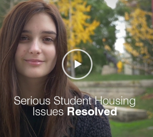 Serious Student Housing Issues Resolved