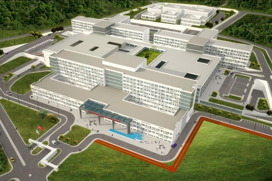 Seismic Isolated Eskişehir City Hospital
