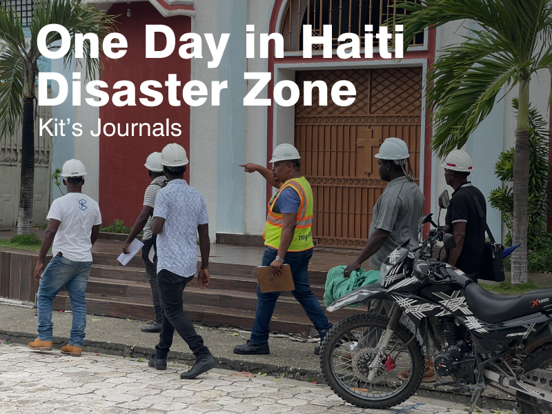 One Day in Haiti Disaster Zone