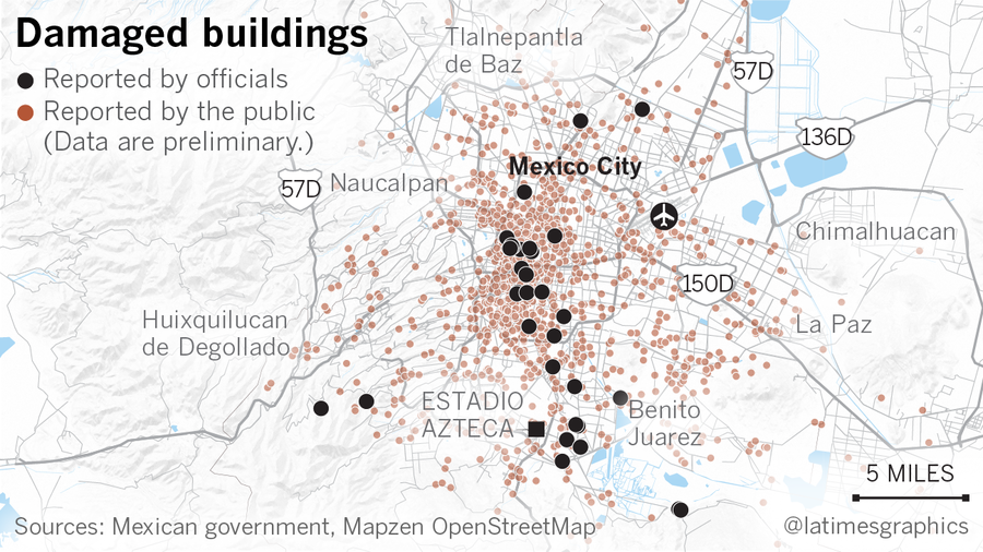 La Times Why Some Buildings Crumbled And Others Survived The Mexico