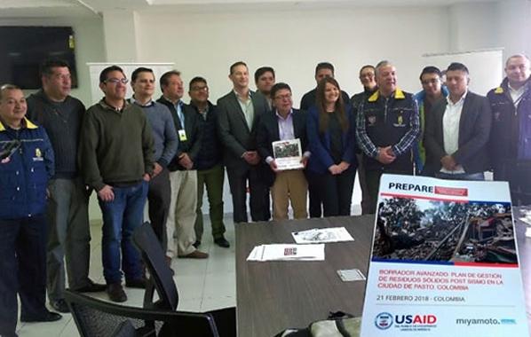 """Miyamoto Internacional y USAID OFDA, entregaron """"Plan de gestión de residuos sólidos post-sismo en la ciudad de Pasto"""" al gobierno local"""